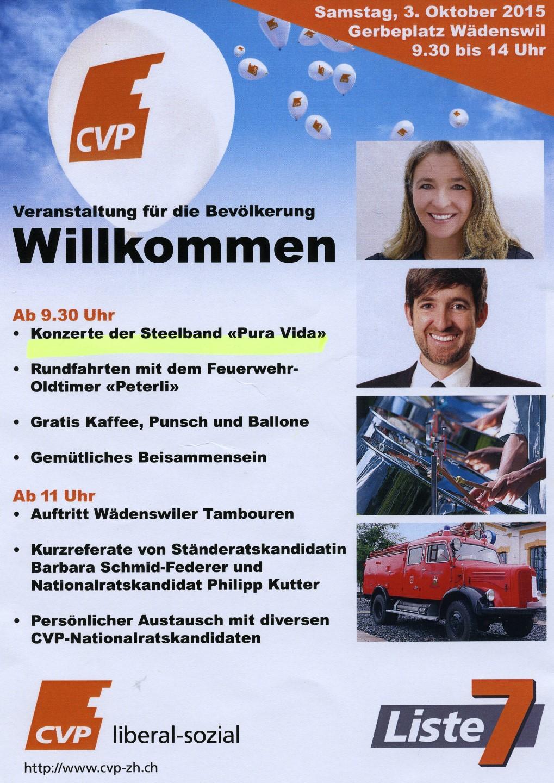 20151003 3.10.15: Wahlveranstaltung für Barbara Federer u. Philipp Kutter, Wädenswil
